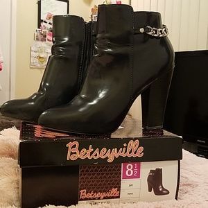 Betsey Johnson Shoes - Betseyville Navy Boots